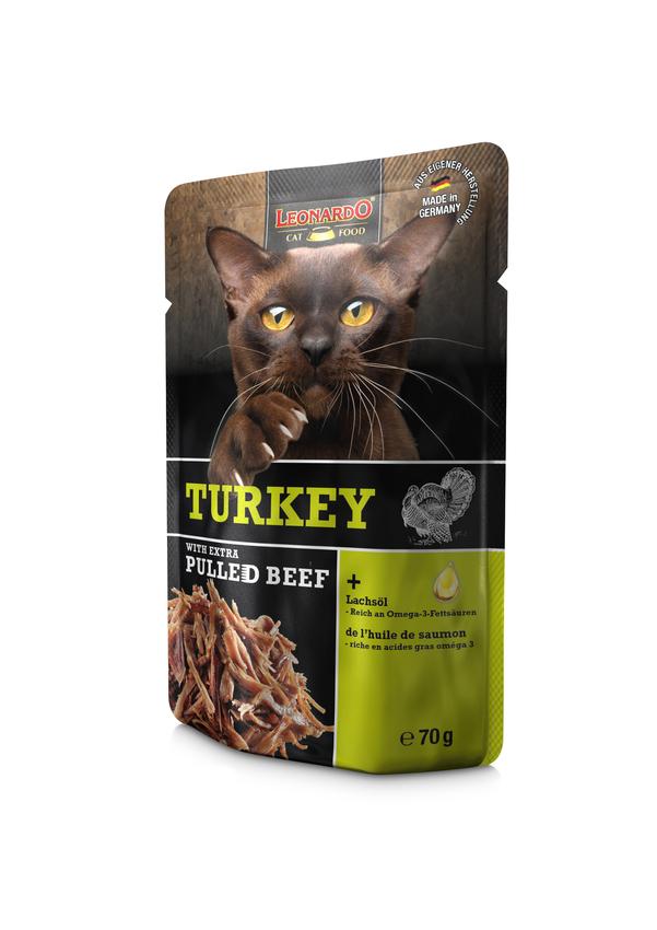 LEONARDO® Turkey + extra pulled Beef, 16x70g