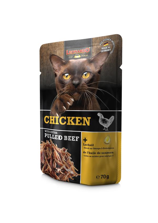 LEONARDO® Chicken + extra pulled Beef, 16x70g